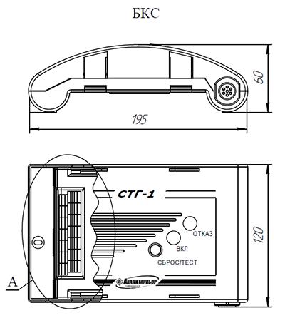 СТГ-1: габаритные размеры блока БКС